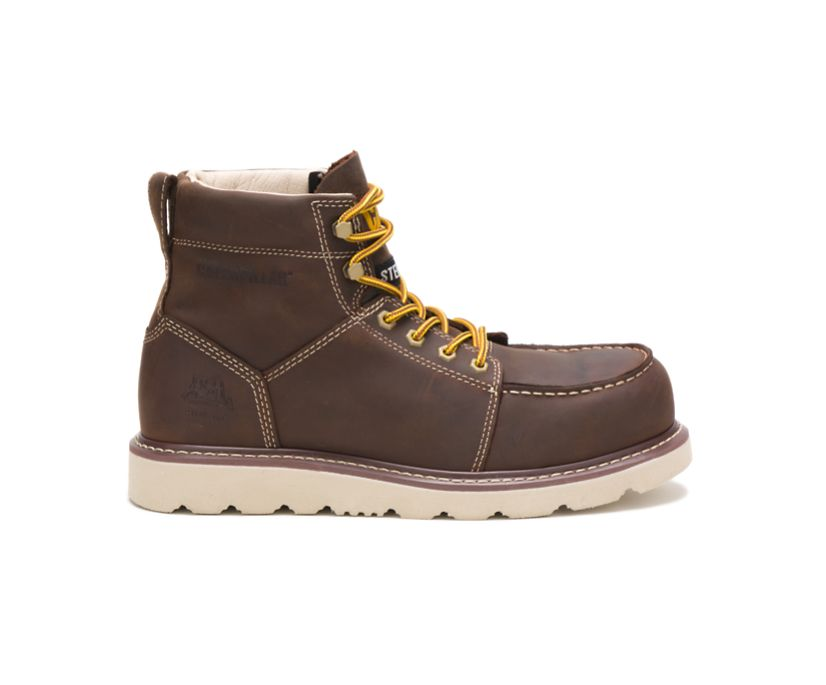 Tradesman Steel Toe Work Boot, Chocolate Brown, dynamic
