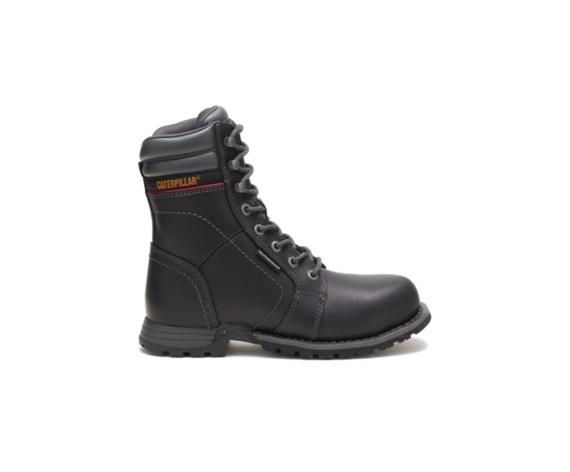 Echo Waterproof Steel Toe Work Boot, Black, dynamic