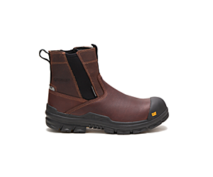Throttle Composite Toe Waterproof Work Boot, Tan, dynamic