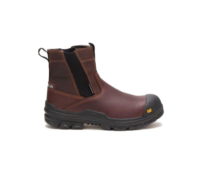 Throttle Composite Toe Waterproof Work Boot, Tan, dynamic