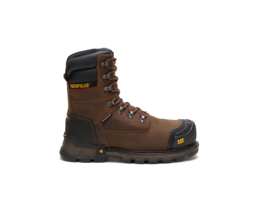 "Excavator XL 8"" Waterproof Thinsulate™ Composite Toe Work Boot, Dark Brown, dynamic"