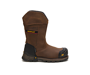 Excavator XL Pull On Waterproof Composite Toe Work Boot, Dark Brown, dynamic