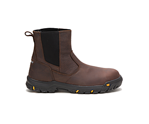 Wheelbase Steel Toe Work Boot, Clay, dynamic