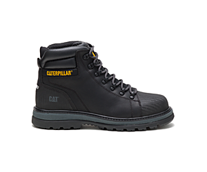 Foxfield Steel Toe Work Boot, Black, dynamic
