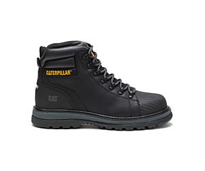 Foxfield Steel Toe Work Boot, Black, dynamic
