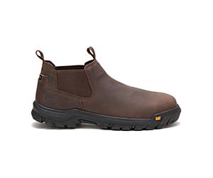 Outline Slip-On Steel Toe Work Boot, Seal Brown, dynamic