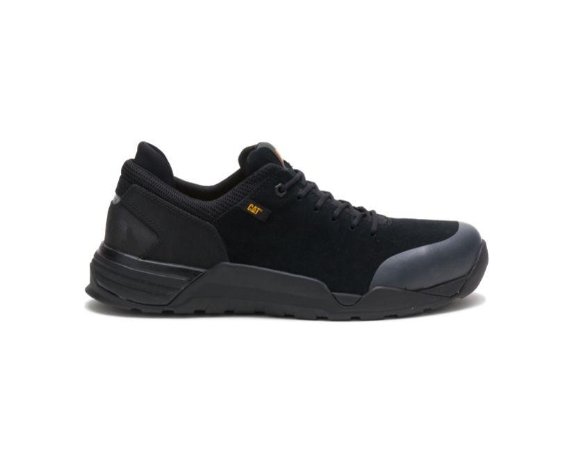 Sprint Suede Alloy Toe Work Shoe, Black, dynamic