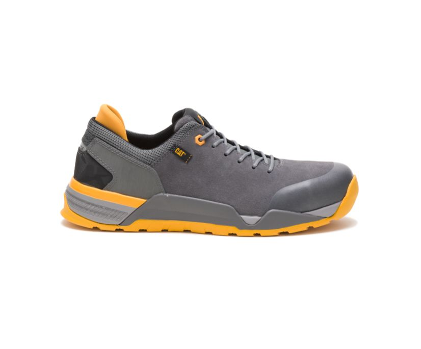 Sprint Suede Alloy Toe Work Shoe, Pewter, dynamic