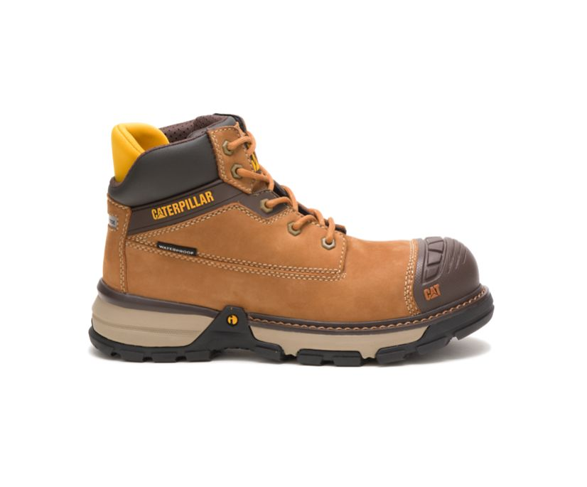 Excavator Superlite Waterproof Nano Toe Work Boot, Sudan Brown, dynamic