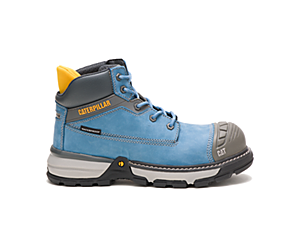 Excavator Superlite Waterproof Nano Toe Work Boot, Blue Heaven, dynamic