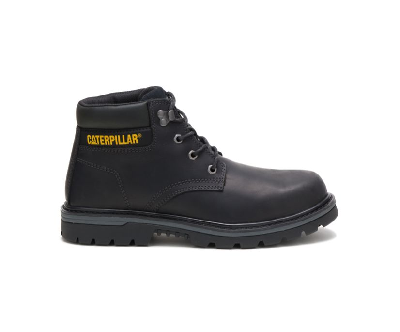 Outbase Steel Toe Work Boot, Black, dynamic