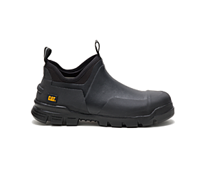 Stormers Steel Toe Work Shoe, Black, dynamic