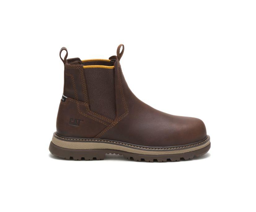Fairbanks Chelsea Steel Toe Work Boot, Toffee, dynamic