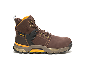 CAT EDGE Waterproof Nano Toe Work Boot, Coffee Bean, dynamic