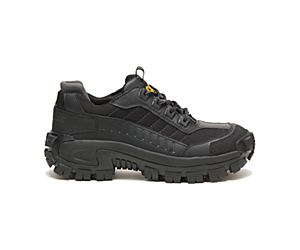 Invader Steel Toe Work Shoe, Black, dynamic