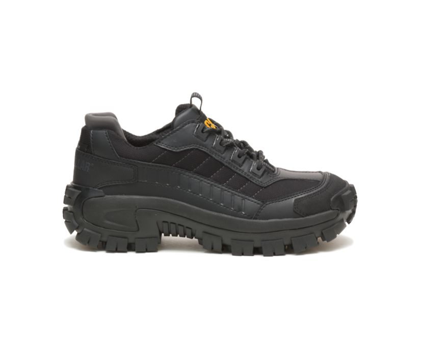 Invader Steel Toe Work Shoe, Black, dynamic