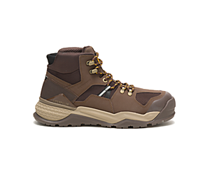 Provoke Mid Waterproof Alloy Toe Work Boot, Chocolate, dynamic