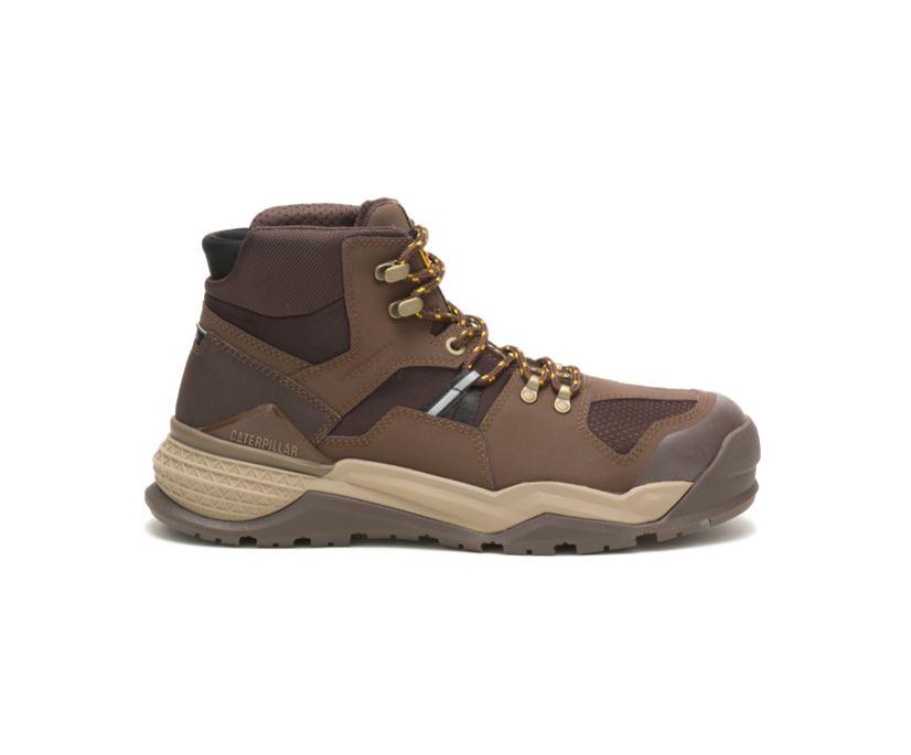 Provoke Mid Waterproof Alloy Toe Work Boot, Chocolate, dynamic