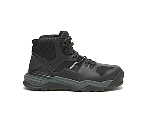 Provoke Mid Waterproof Alloy Toe Work Boot, Black/Sand, dynamic