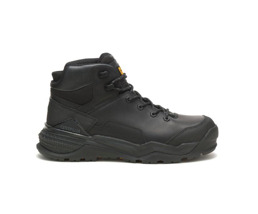 Provoke Mid Waterproof Alloy Toe Work Boot, Black, dynamic