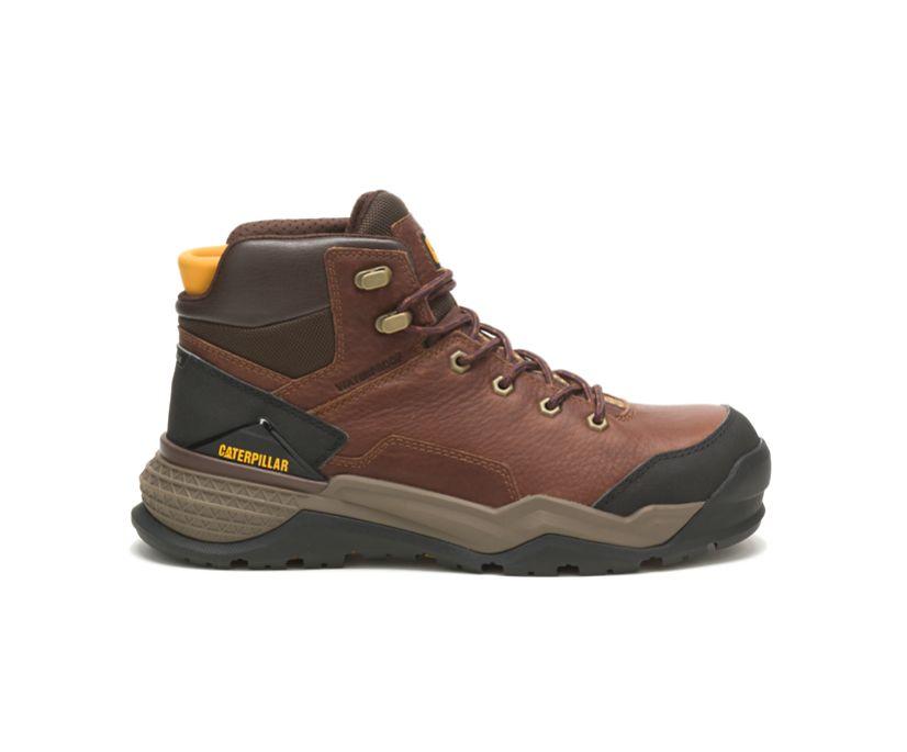 Provoke Mid Waterproof Alloy Toe Work Boot, Oak, dynamic