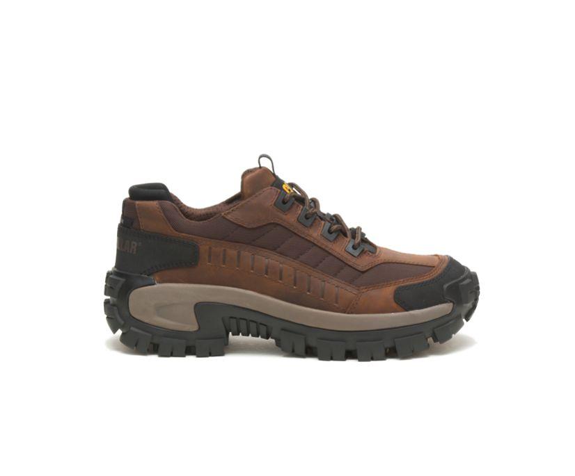 Invader Steel Toe Work Shoe, Dark Brown, dynamic