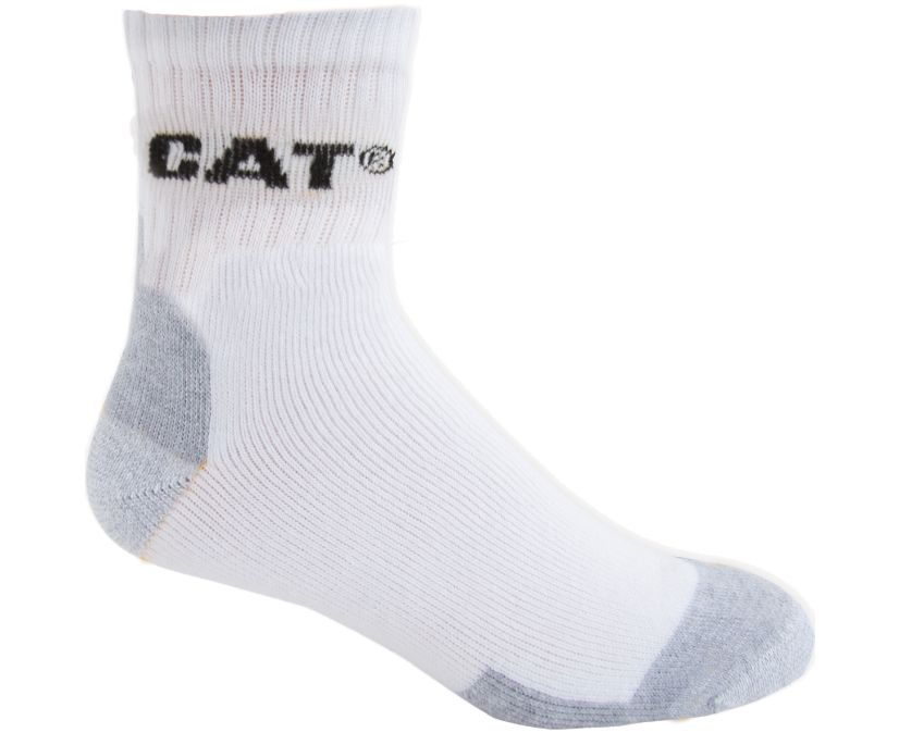 All Season Work Quarter Sock 3-Pack, WHITE, dynamic