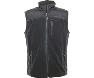 Momentum Fleece Vest, BLACK, dynamic