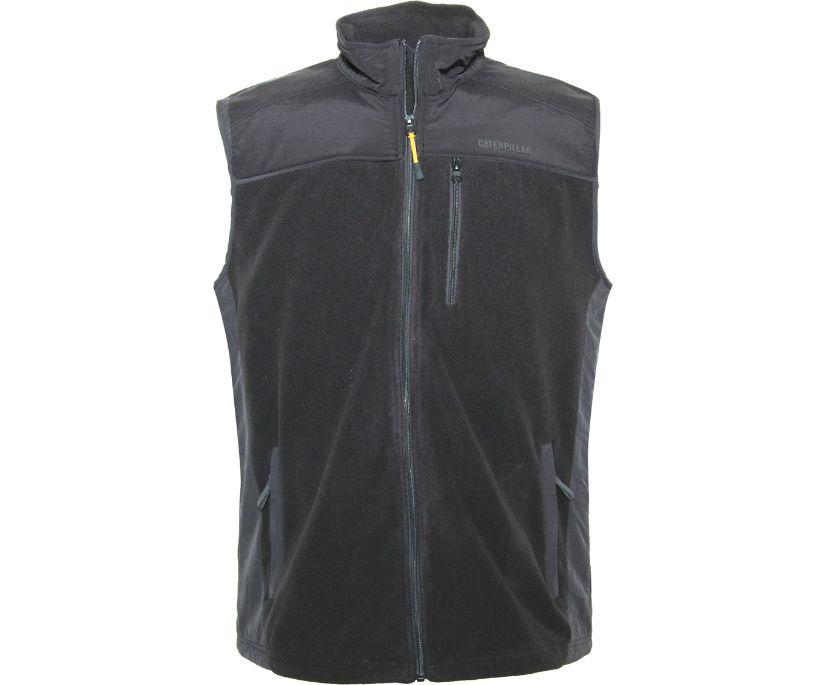 Momentum Fleece Vest, BLACK, dynamic