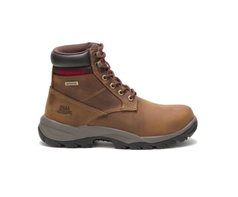 "Dryverse 6"" Waterproof Work Boot, Dark Beige, dynamic"