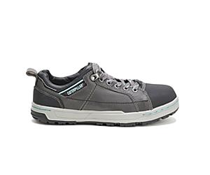 Brode Steel Toe Work Shoe, Dark Grey/Mint, dynamic