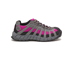 Switch Steel Toe Work Shoe, Charcoal/Pink, dynamic