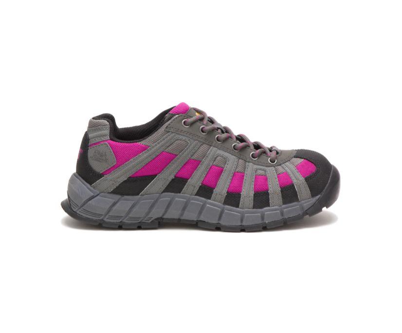 Switch Steel Toe Work Shoe, Charcoal/Pink, dynamic