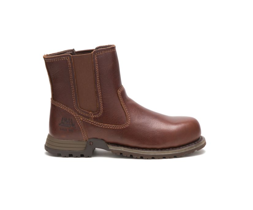 Freedom Pull On Steel Toe Work Boot, Oak, dynamic