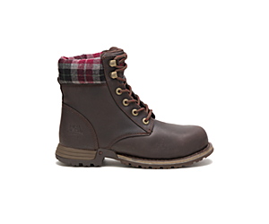 Kenzie Steel Toe Work Boot, Bark, dynamic