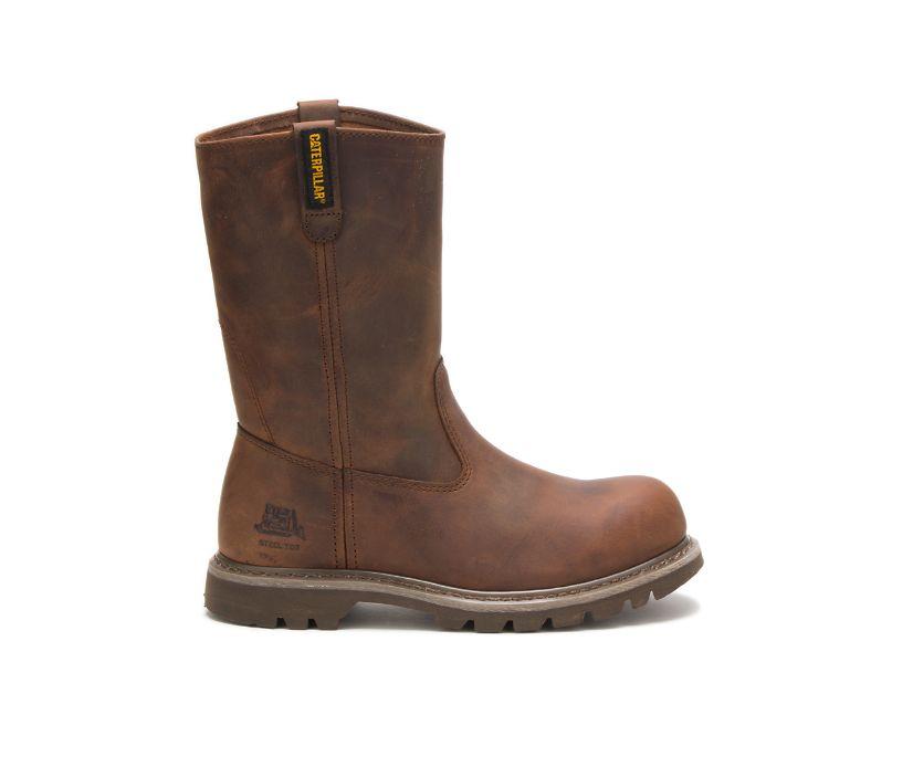 Revolver Steel Toe Work Boot, Dark Beige, dynamic