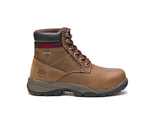 "Dryverse 6"" Waterproof Steel Toe Work Boot, Dark Brown, dynamic"