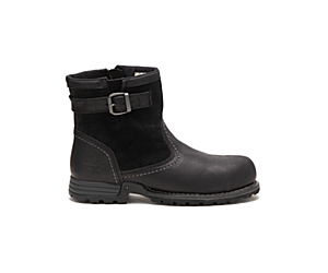 Jace Steel Toe Work Boot, Black, dynamic