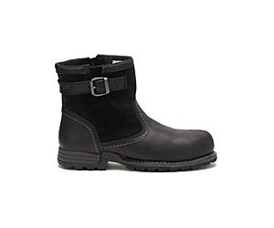 Jace Steel Toe Work Boot, Black, dynamic