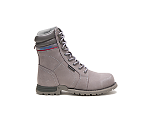 Echo Waterproof Steel Toe Work Boot, Frost Grey, dynamic