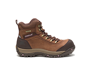 Ally Waterproof Composite Toe Work Boot, Brown, dynamic