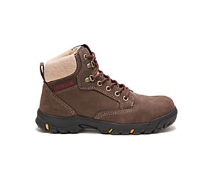 Tess Steel Toe Work Boot, Chocolate, dynamic