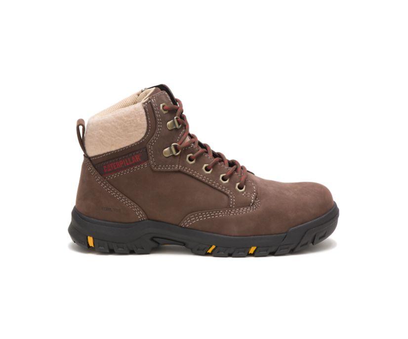Tess Steel Toe Work Boot, Chocolate, dynamic