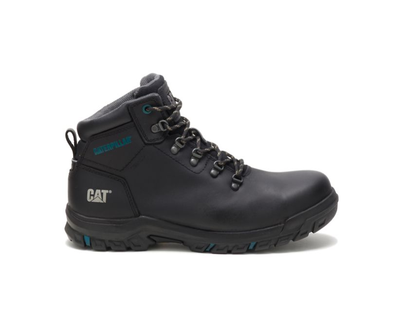 Mae Steel Toe Waterproof Work Boot, Black, dynamic