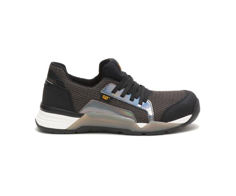 Sprint Textile Alloy Toe Work Shoe, Black, dynamic