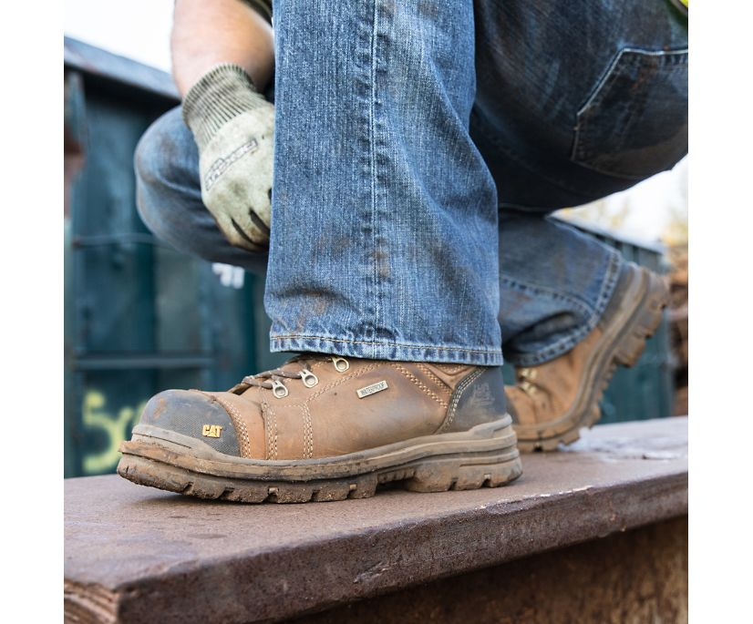 "Hauler 6"" Waterproof Composite Toe Work Boot, Dark Beige, dynamic"