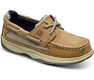 Lanyard Boat Shoe, Dark Tan/Navy, dynamic