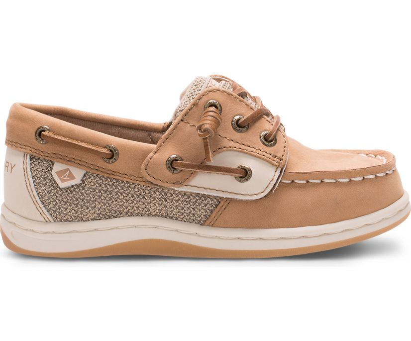 Songfish Junior Boat Shoe, Linen / Oat, dynamic