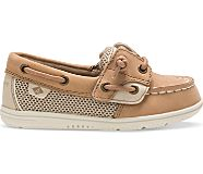 Shoresider Junior Boat Shoe, Linen Oat, dynamic