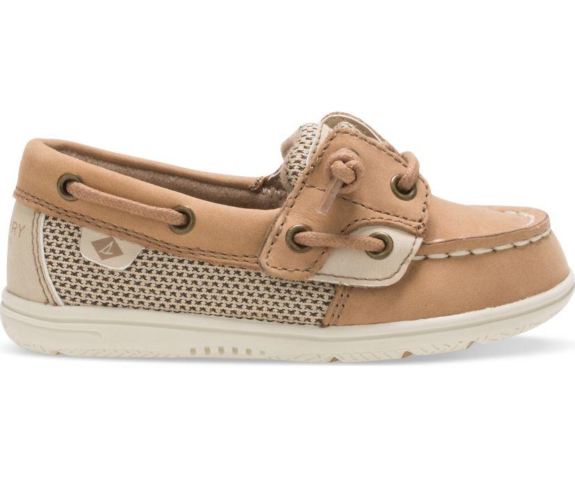 Shoresider Junior Boat Shoe, Linen Oat, dynamic